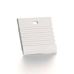 ALP-018 Véglezáró alumínium LED profilhoz, fehér