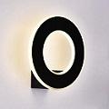 Design kör alakú LED lámpatest Hoop, fekete (9W) meleg fehér