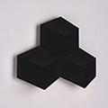 Design beltéri LED lámpatest Pira, fekete (9W) meleg fehér