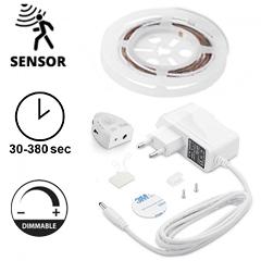 LED szalag szett ágyvilágításhoz: fényerő állítás, mozgásérzékelés, 1x120 cm meleg fehér