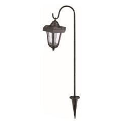 Kerti szolár függő lámpa, állvánnyal (75cm magas) fekete