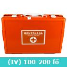 IV elsősegély doboz (narancs) fali tartóval