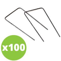"""Leszúrható """"U"""" alakú fémkapocs (100 darab)"""