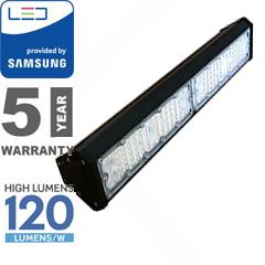LED csarnokvilágító, lineáris, függeszthető (100W/90°) hideg f., 120lm/W
