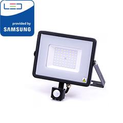 Mozgásérzékelős PRO-B LED reflektor (50W/100°) természetes fehér