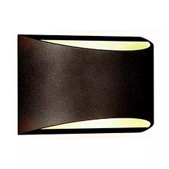 BRIDGELUX kültéri oldalfali fel-le világító LED lámpa (10W) fekete - IP54
