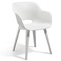 Akola műanyag kerti szék - fehér