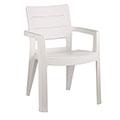Ibiza kartámaszos műanyag kerti szék - fehér
