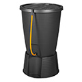 Indigo water butt műanyag esővíz tároló tömlővel (220L) - grafit