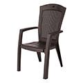 Minnesota kartámaszos műanyag kerti szék - barna