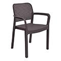 Samanna kartámaszos műanyag kerti szék - barna