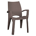 Spring  kartámaszos műanyag kerti szék - cappuccino