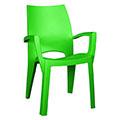 Spring  kartámaszos műanyag kerti szék - világos zöld