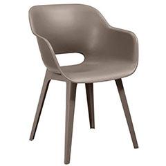 Akola műanyag kerti szék - cappuccino