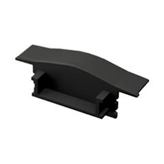 ALP-001 Véglezáró alumínium LED profilhoz - fekete