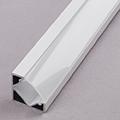 ALP-007 Aluminium sarok profil fehér, LED szalaghoz, opál burával