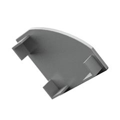 ALP-007 Véglezáró alumínium LED profilhoz, szürke