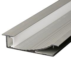 ALP-023 Aluminium design profil ezüst, LED szalaghoz, opál burával