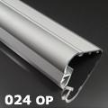 ALP-024 Aluminium lépcső profil ezüst, LED szalaghoz, opál burával