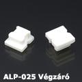 ALP-025 Vízálló műanyag profil - véglezáró elem fehér