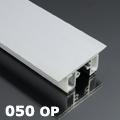 ALP-050 Aluminium oldalfali profil ezüst, két LED szalaghoz, opál burával