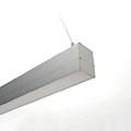 ALP-052 Aluminium függeszthető profil ezüst, LED szalaghoz, opál burával