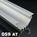 ALP-059 Aluminium profil ezüst, gipszkartonba / függesztve, átlátszó bura Kifutó!
