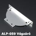 ALP-059 Véglezáró alumínium LED profilhoz, fém