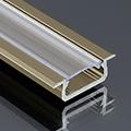 Type-Z - Süllyeszthető LED szalagos alu profil - barna -  átlátszó burával