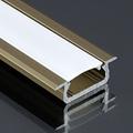 Type-Z - Süllyeszthető LED szalagos alu profil - barna -  opál burával