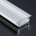 Type-Z - Süllyeszthető LED szalagos alu profil - ezüst - átlátszó burával