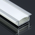 Type-Z - Süllyeszthető LED szalagos alu profil - ezüst -  félig átlátszó burával
