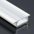 Type-Z - Süllyeszthető LED szalagos alu profil - fehér - átlátszó burával