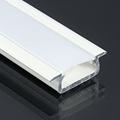 Type-Z - Süllyeszthető LED szalagos alu profil - fehér - opál burával