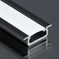 Type-Z - Süllyeszthető LED szalagos alu profil - fekete - opál burával