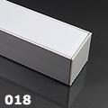 ALP-018 Aluminium U profil ezüst, LED szalaghoz, opál burával