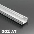 ALP-002 - Aluminium U profil ezüst, LED szalaghoz, átlátszó burával
