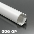 ALP-006 Aluminium sarok profil ezüst, LED szalaghoz, opál burával
