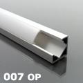 ALP-007 Aluminium sarok profil ezüst, LED szalaghoz, opál burával