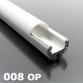 ALP-008 Aluminium kör profil ezüst, LED szalaghoz, opál burával