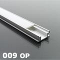 ALP-009 Aluminium profil csempébe, burkolatba, ezüst, opál burával