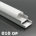 ALP-010 Aluminium profil vezetéksínnel ezüst, LED szalaghoz, opál burával