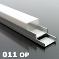 ALP-011 Aluminium profil vezetéksínnel ezüst, LED szalaghoz, opál burával