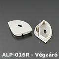 ALP-016R Véglezáró alumínium LED profilhoz, szürke