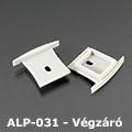 ALP-031 Véglezáró alumínium LED profilhoz, szürke
