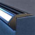 Scala - Lépcsővilágításhoz alu LED profil fekete - opál burával