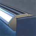 Scala - Lépcsővilágításhoz alu LED profil ezüst - opál burával