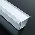 ALP-017 Aluminium profil gipszkartonba ezüst, LED szalaghoz, opál burával