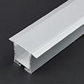 ALP-031 Aluminium U profil ezüst , LED szalaghoz gipszkartonba, opál burával