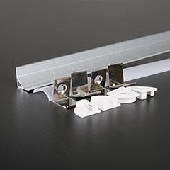 Alumínium sarok profil LED szalaghoz, opál burával (3353)